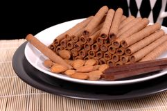 Chocolate Viennese wafers Royalty Free Stock Photography