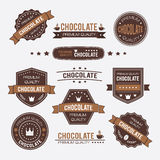 Chocolate vintage retro design logos and labels Stock Photo