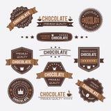 Chocolate vintage retro design logos and labels Stock Photo
