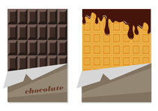 Chocolate and wafer. Animation. Royalty Free Stock Photos