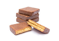 Chocolate wafer Royalty Free Stock Photos