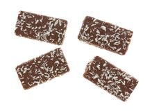 Chocolate wafer with coconut flakes cookies