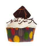 Chocolate Wafer Cupcake Royalty Free Stock Image