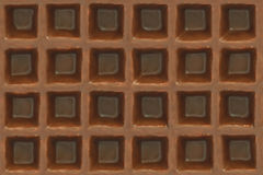 Chocolate wafer texture. Chocolate coated wafer texture closeup Stock Image