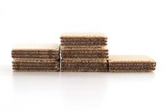 Chocolate wafer. On white background Stock Image