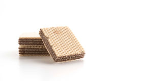 Chocolate wafer. On white background Royalty Free Stock Photos