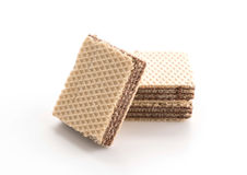 Chocolate wafer. On white background Stock Photography