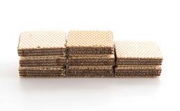 Chocolate wafer. On white background Stock Photo