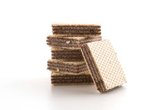 Chocolate wafer. On white background royalty free stock photo