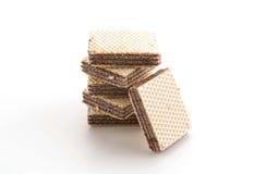 Chocolate wafer. On white background Stock Photos
