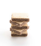 Chocolate wafer. On white background Royalty Free Stock Image
