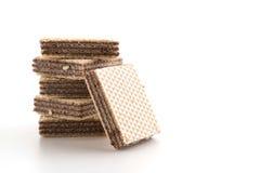 Chocolate wafer. On white background Royalty Free Stock Photo
