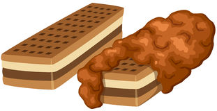 Chocolate wafers vector illustration