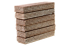 Chocolate wafers Royalty Free Stock Photos