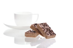Chocolate wafers Royalty Free Stock Images