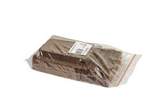 Chocolate wafers in the package Stock Photography