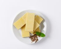 Chocolate wafers Royalty Free Stock Photography