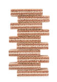 Chocolate wafers Stock Images