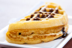 Chocolate waffle Royalty Free Stock Photography