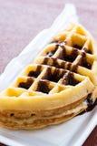Chocolate waffle Royalty Free Stock Photos