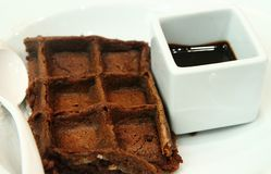 Chocolate Waffle. Waffle with chocolate Royalty Free Stock Image