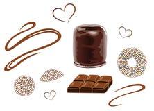 Chocolate, waffle Stock Image