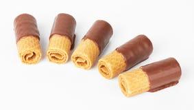 Chocolate Waffle Cookies Stock Image
