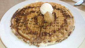 Chocolate waffle Stock Photo