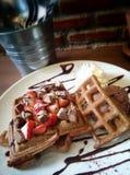 Chocolate waffle Royalty Free Stock Images