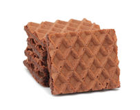 Chocolate waffles, isolated Royalty Free Stock Photography