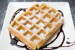 Chocolate waffles Royalty Free Stock Photo