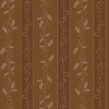 Chocolate wallpaper. A repeating background pattern in shades of chocolate brown royalty free illustration