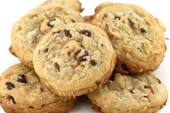Chocolate walnut cookies Royalty Free Stock Image