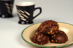 Chocolate walnut Cookies Stock Image
