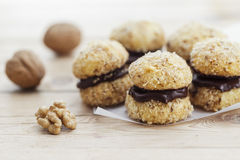 Chocolate Walnut Cookies Royalty Free Stock Photography