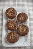 Chocolate Walnut Muffins Stock Image