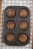 Chocolate Walnut Muffins Royalty Free Stock Photos