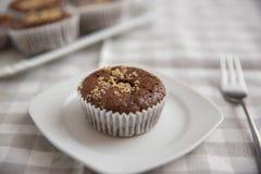 Chocolate Walnut Muffins Royalty Free Stock Photography