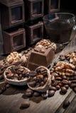 Chocolate and walnuts Royalty Free Stock Photo