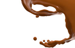 Chocolate wave Royalty Free Stock Images