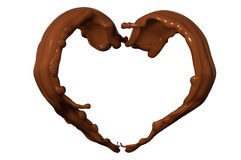 Chocolate wave Stock Images