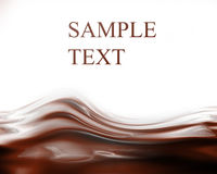 Chocolate waves Stock Images