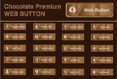Chocolate Web Button stock illustration