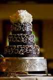 Chocolate wedding cake Stock Photography