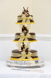 Chocolate wedding cake Royalty Free Stock Image