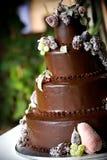 Chocolate wedding cake royalty free stock photos