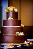 Chocolate wedding cake Stock Photo