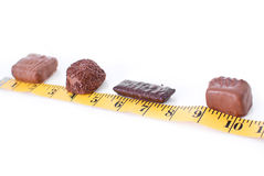 Chocolate Weight Gain Royalty Free Stock Photography