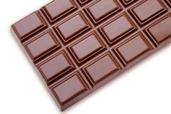 Chocolate on white Royalty Free Stock Photos
