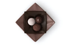 Chocolate on White Royalty Free Stock Photography